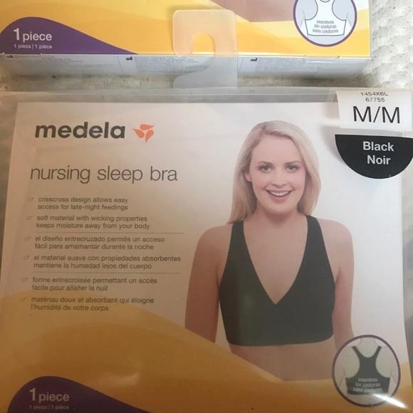 3ffc48764c 2 MEDELA Nursing Sleep Bras RV 55 NEW Medium